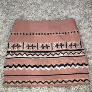 Cute beaded pink skirt